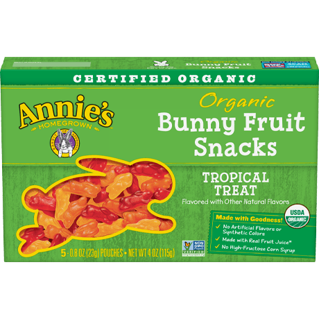 Organic Tropical Treat Bunny Fruit Snacks