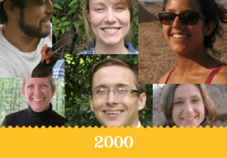 Year 2000 - An assortment of smiling student faces