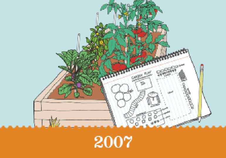 Year 2007 - An illustration of a garden plan