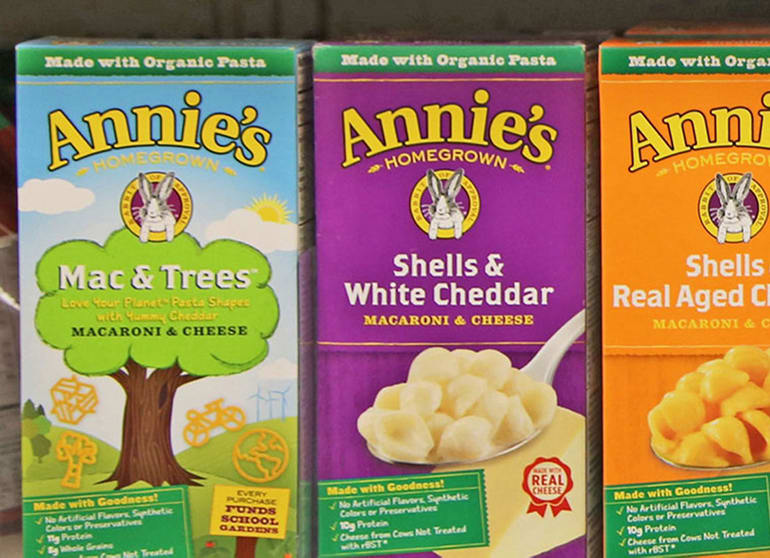 Three boxes of Annie's mac and cheese