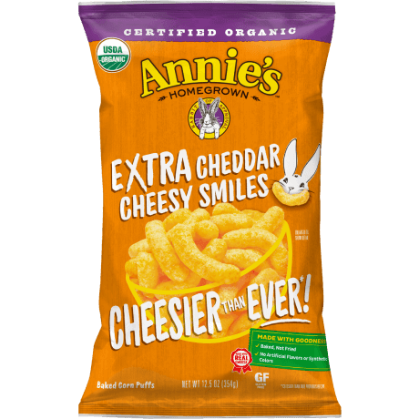package of extra cheddar cheesy smiles