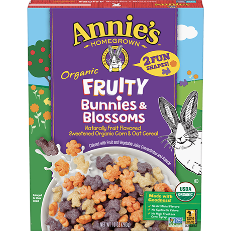 Box of Annie's Fruity Bunnies & Blossoms Cereal