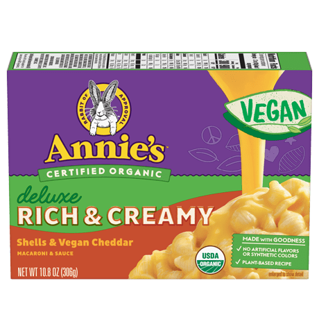 Box of Annie's Organic Deluxe Vegan Mac