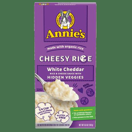 Box of Annie's White Cheddar Cheesy Rice