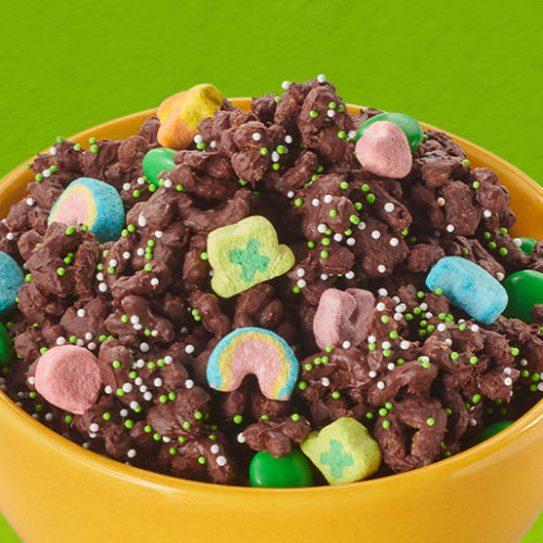 Chocolate Lucky Charms Snack Mix