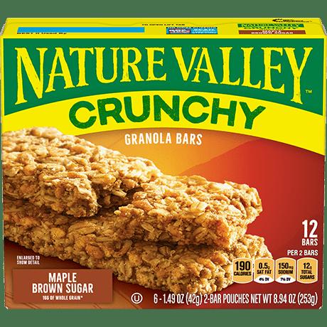 Maple Brown Sugar Crunchy Granola Bars