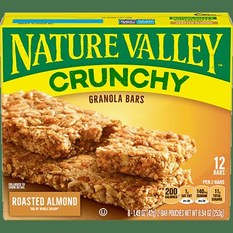 Roasted Almond Crunchy Granola Bars