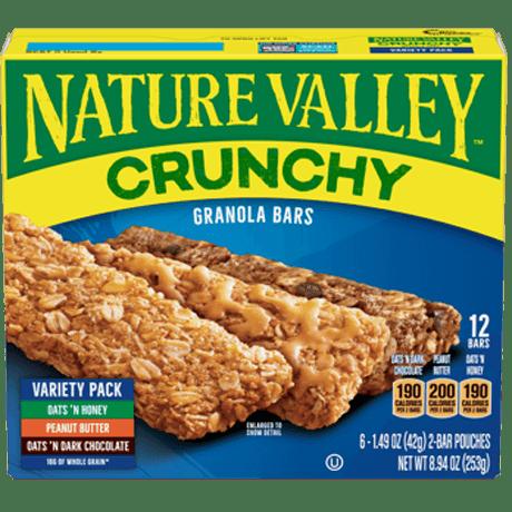 Variety Pack Crunchy Granola Bars
