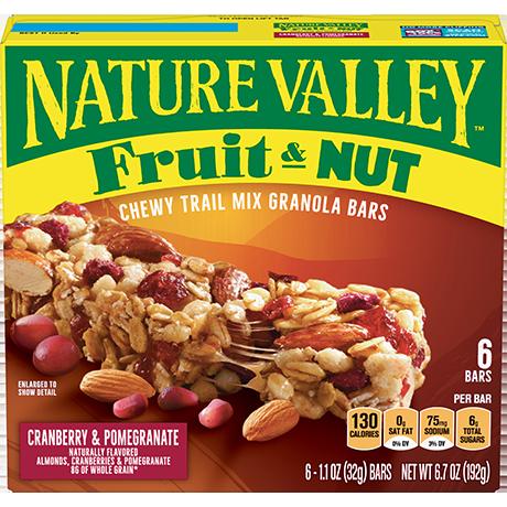 Cranberry & Pomegranate Fruit & Nut Bars