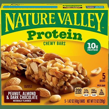 Peanut, Almond & Dark Chocolate Protein Chewy Bars