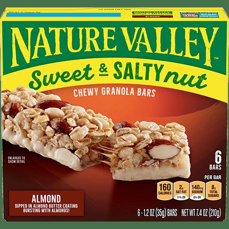 Almond Sweet & Salty Granola Bars