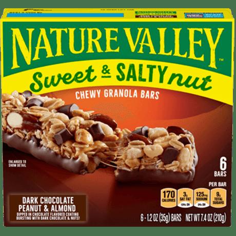 Dark Chocolate, Peanut & Almond Sweet & Salty Granola Bars