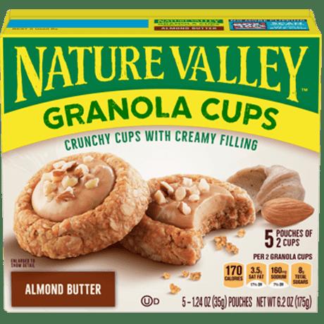 Granola cups crema de almendra