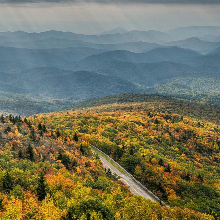 breathtaking view of blue ridge parkway