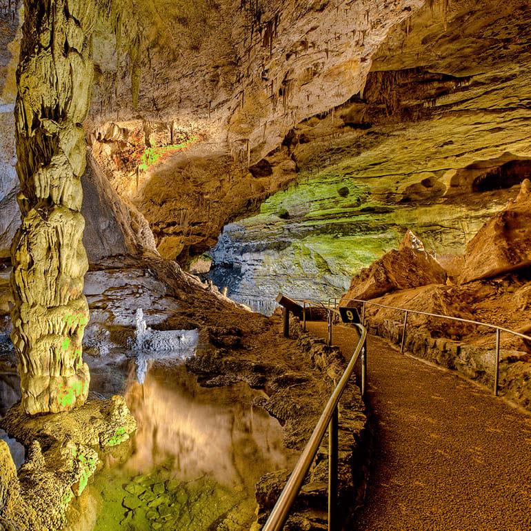 Amazing landscape of Carlsbad Caverns National Park