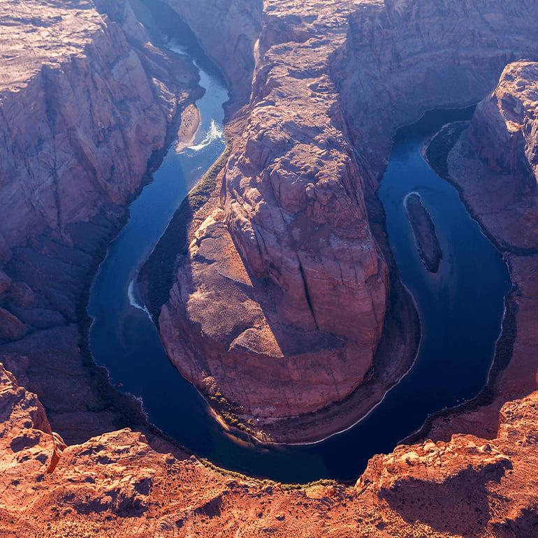 The American Southwest Horseshoe Bend of Glen Canyon Nation Park