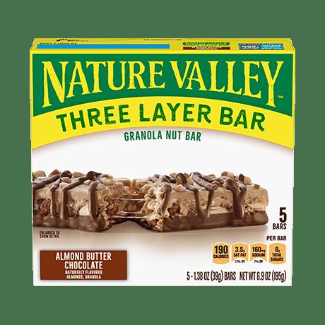 Almond Butter Chocolate Layered Granola Nut Bars