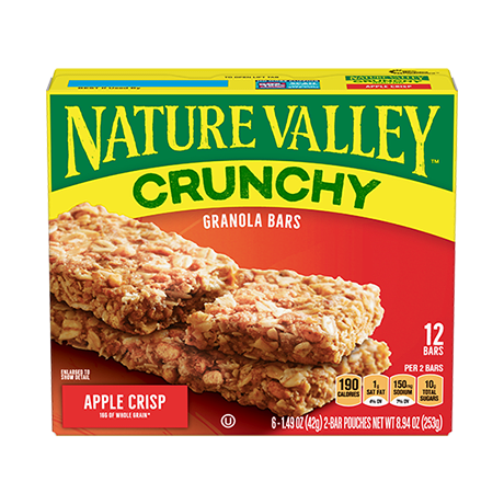 Apple Crisp Crunchy Granola Bars