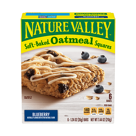 Blueberry Soft-baked Oatmeal Squares