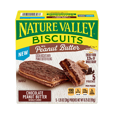 Chocolate Peanut Butter Biscuit Sandwiches