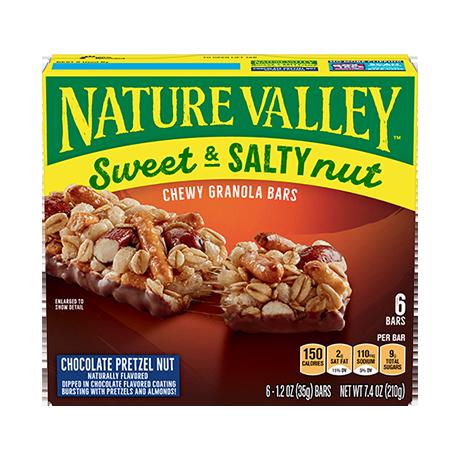 Chocolate Pretzel Nut Sweet & Salty Granola Bars