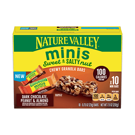 Dark Chocolate, Peanut & Almond Minis Sweet & Salty Bars