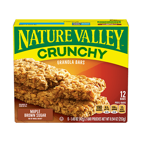 Maple Brown Sugar Crunchy Granola Bars