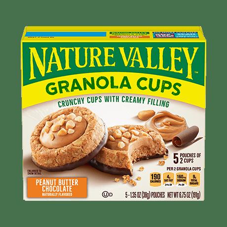 Peanut Butter Chocolate Granola Cups