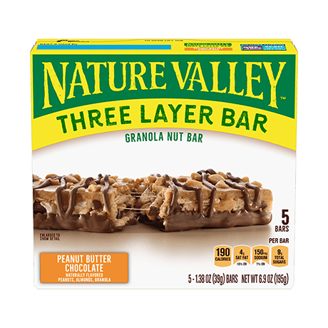 Peanut Butter Chocolate Layered Granola Nut Bars