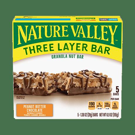 Peanut Butter Chocolate Layered Granola Nut Bars