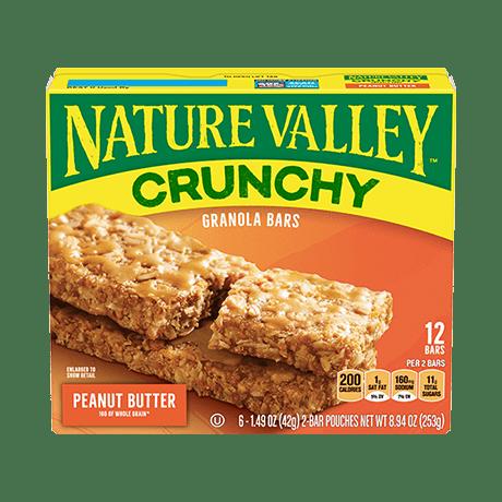 Peanut Butter Crunchy Granola Bars