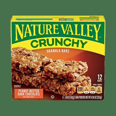 Peanut Butter Dark Chocolate Crunchy Granola Bars