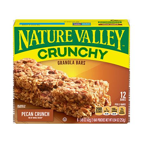 Pecan Crunchy Granola Bars