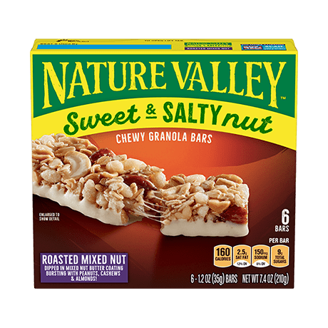 Roasted Mixed Nut Sweet & Salty Granola Bars