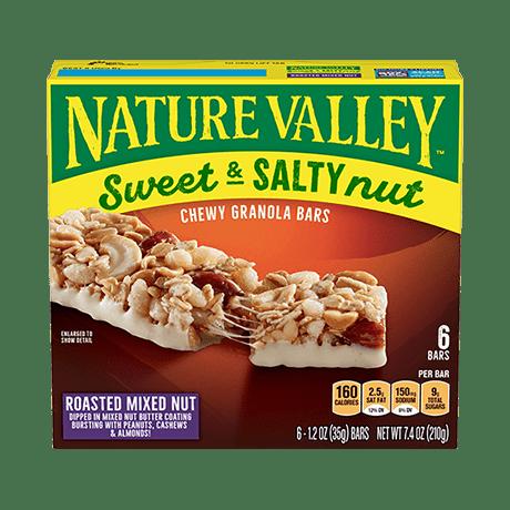 Roasted Mixed Nut Sweet & Salty Granola Bars