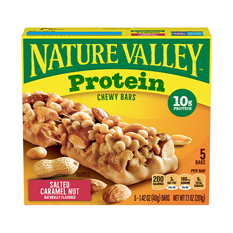 Salted Caramel Nut Protein Chewy Bars