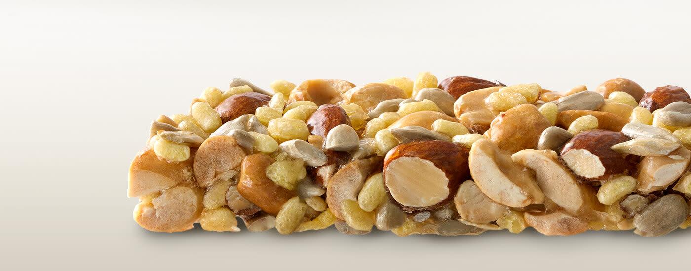 Almond, peanut protein nut bars