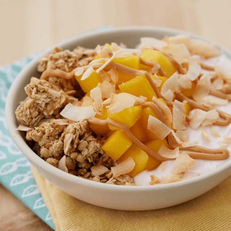 bowl filled with Tropical Crunch Protein