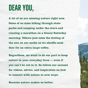 A message written for people to save nature - Link to social post
