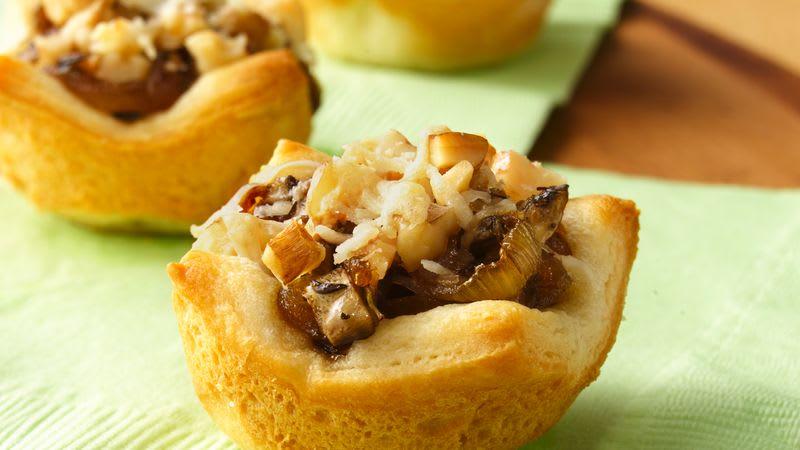 Tartelettes aux oignons caramélisés et champignons