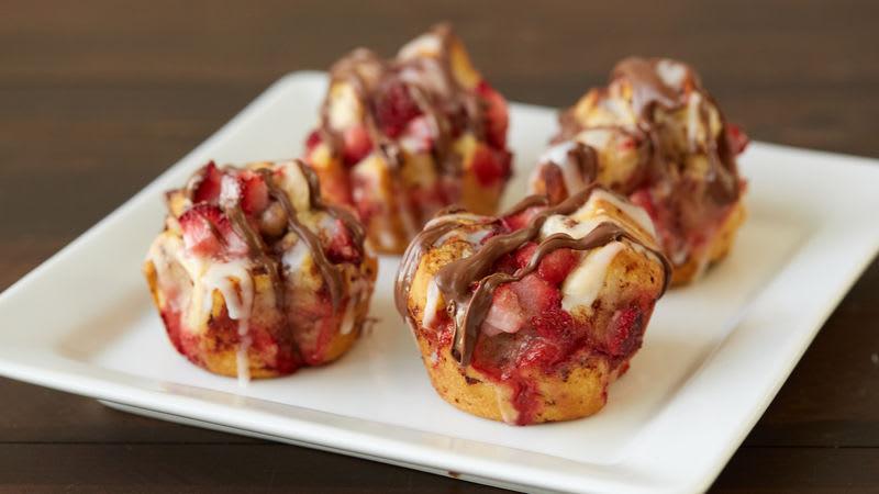 Strawberry Mini Monkey Breads