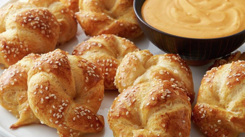 Bretzels en pâte à croissant