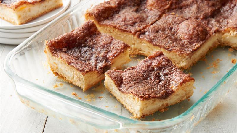 Barres de gâteau au fromage avec sopapilla