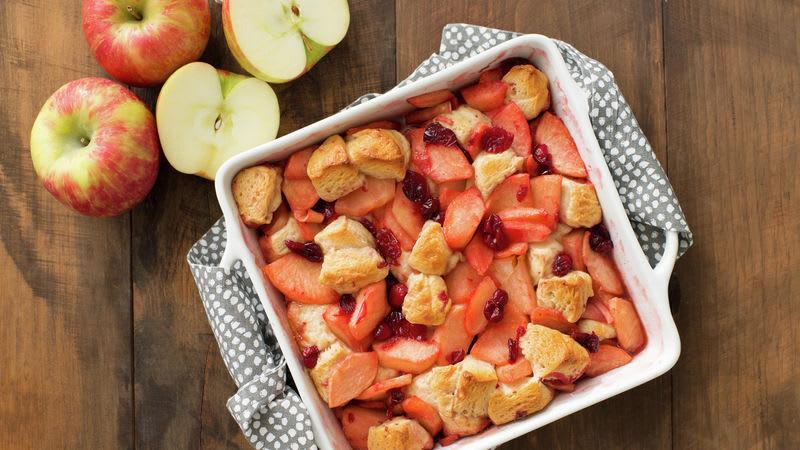 Pain aux pommes et canneberges