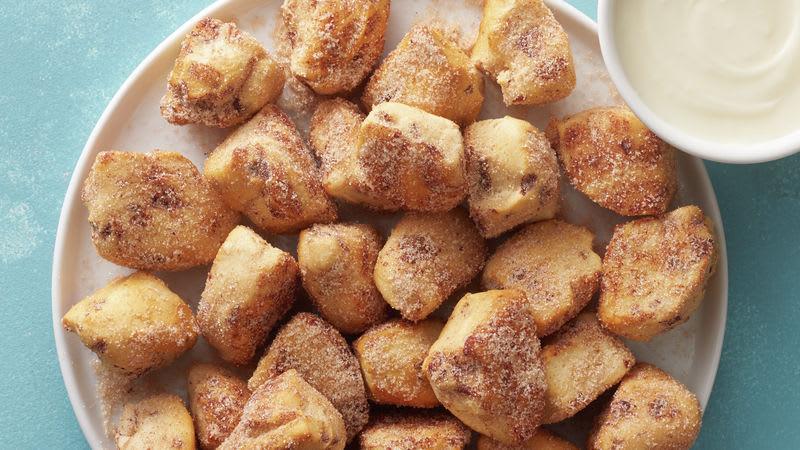 Bouchées de brioche à la cannelle à la friteuse à air