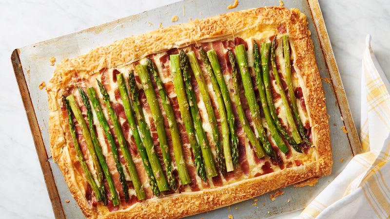 Asparagus and Prosciutto Rustic Tart