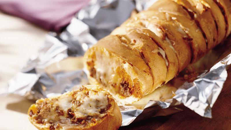 Pain farci au fromage italien et aux champignons