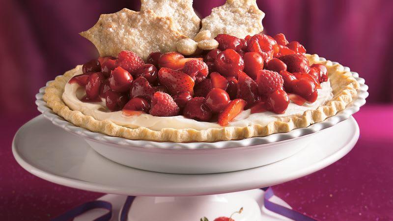 Three-Berry Cheesecake