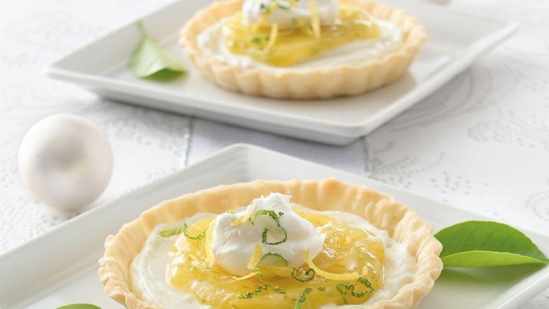 Tartelettes succulentes à la crème citron-lime