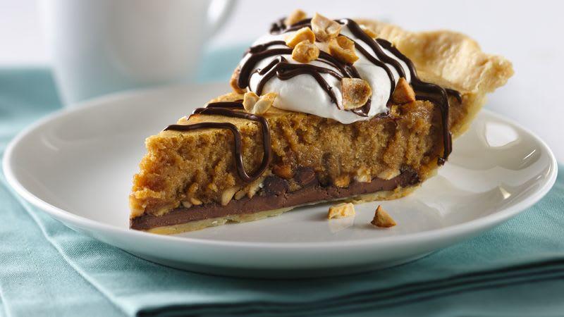 Sweet Chocolate Peanut Butter Pie